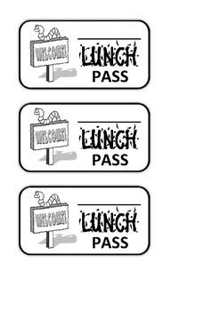 General Break_Work_Lunch Passes