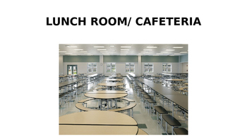 General Cafeteria and Recess Vocabulary Words for ELLs