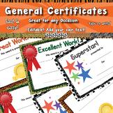 General Certificates APT-001