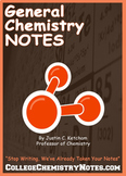 General Chemistry Lecture Notes - First Semester