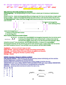 General Chemistry Quick Review Facts and Handout