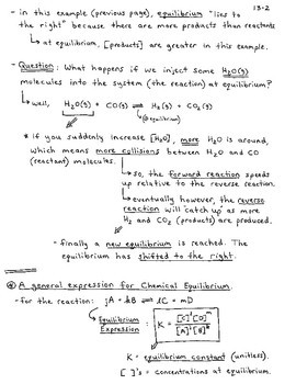 General Chemistry Section 13 - Chemical Equilibrium