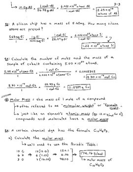 General Chemistry Section 3 - Chemical Quantities and Stoichiometry