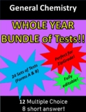 General Chemistry WHOLE YEAR Bundle of Tests!!