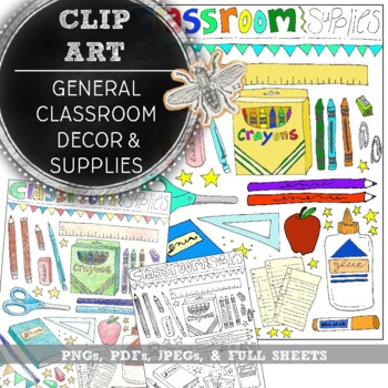General Classroom Decor: Classroom Clip Art, Vectors, Hand Drawn Decor
