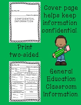 General Classroom Information Sheet for Specialists