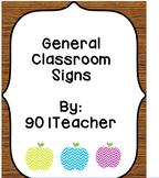 General Classroom Signs