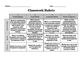 General Classwork Rubric