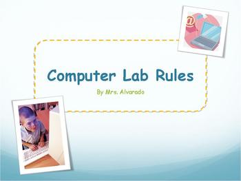 General Computer Lab Rules PowerPoint (Classroom)