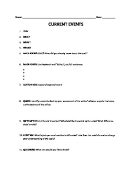 General Current Events (open-ended)