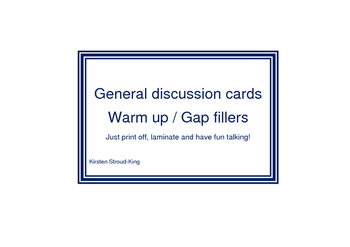 General Discussion Cards