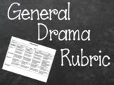 General Drama Rubric