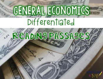 Economics {Differentiated Reading Passages & Questions}