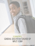 General Education IEP Feedback Form-Elementary