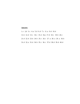 General English Test-Multiple Choice
