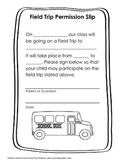 General Field Trip Permission Slip Form