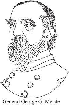 General George G. Meade Realistic Clip Art, Coloring Page, and Poster