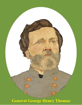 General George Henry Thomas Realistic Clip Art Coloring Page And Poster