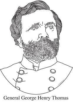 General George Henry Thomas Realistic Clip Art, Coloring Page, and Poster