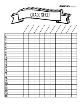 General Grade Sheet