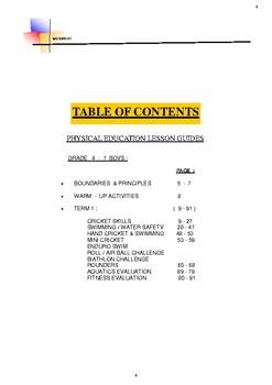 Basic Skills, Physical Education & Sport. Term.1. Gr. 4-7
