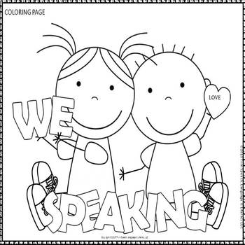 Speech therapy door signs and coloring pages tpt for Speech coloring pages
