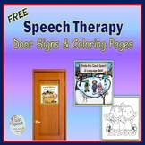Speech Therapy Door Signs and Coloring Pages