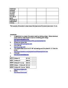 Webquest:  Home Handyman Scavenger Hunt (General Math)