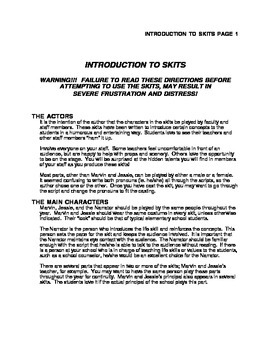 General Instructions for Marvin and Jessie Skits
