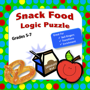 General Interest Critical Thinking Logic Puzzle for Grades 4 - 7