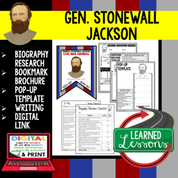 General Jackson Biography Research, Bookmark Brochure, Pop-Up, Writing, Google