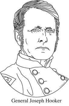 General Joseph Hooker Realistic Clip Art, Coloring Page, and Poster