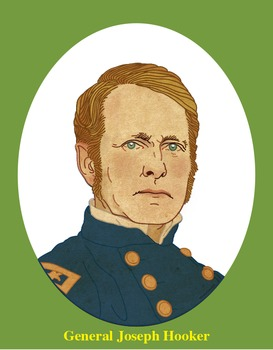 General Joseph Hooker Realistic Clip Art, Coloring Page, a