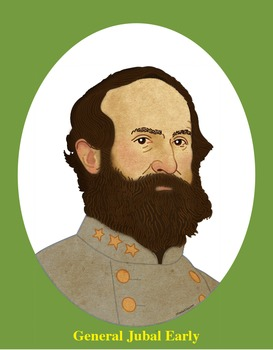 General Jubal Early Realistic Clip Art, Coloring Page, and Poster