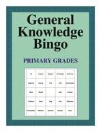 General Knowledge Bingo Unit-Beginner