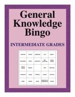 General Knowledge Bingo Unit-Intermediate