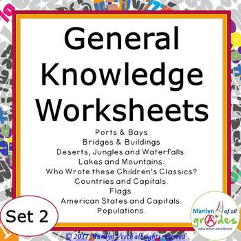 General Knowledge - Sub Tubs - Worksheets, Activities - Set 2