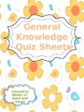 General Knowledge Sheets