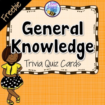 General Knowledge Trivia Cards for Quizzes Freebie