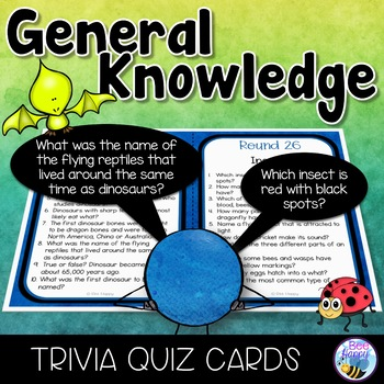General Knowledge Trivia Cards