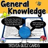 General Knowledge Trivia Quiz Cards
