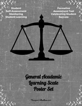 General Learning Scales Poster/Slide Bundle Chalkboard
