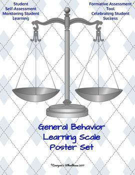 General Learning Scale Poster/Slide Bundle Trophy Theme