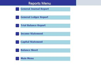 General Ledger Accounting System Using Access
