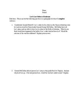 General Lee's Lost Orders