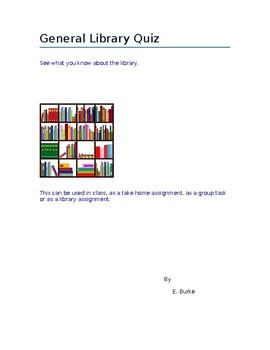 General Library Quiz
