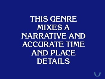 General Literature Studies Jeopardy Powerpoint - Click through