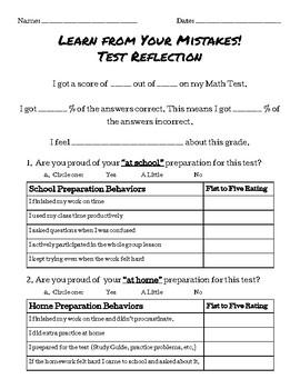 General Math Test Reflection