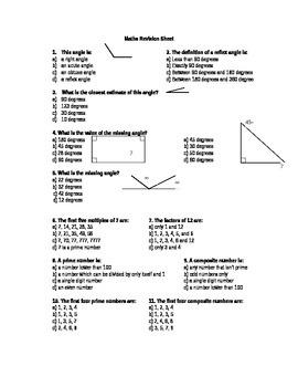 General Maths Aptitude Test - Various subtopics