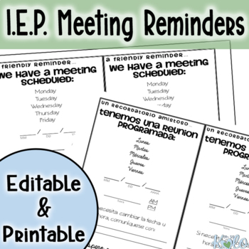 General Meeting Reminder card